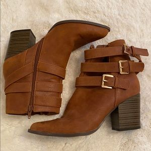 Brown, Multi-Buckle Bootie